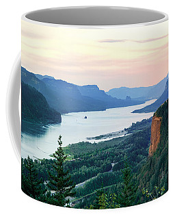 Coffee Mug featuring the photograph Columbia River With Vista House by Mary Jo Allen