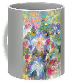 Coffee Mug featuring the painting Columbine In The Wildflowers by Frances Marino