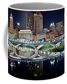 Columbus Over The Scioto Coffee Mug by Frozen in Time Fine Art Photography