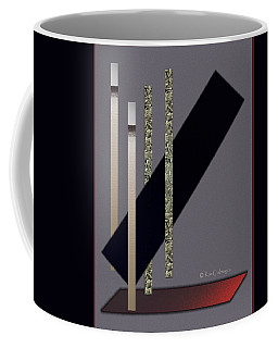 Columns And Spaces Coffee Mug by Kae Cheatham