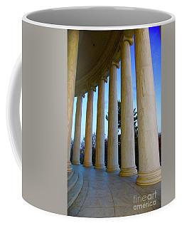 Columns At Jefferson Coffee Mug