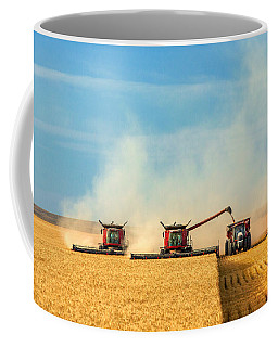 Combines And Tractor Working Together Coffee Mug