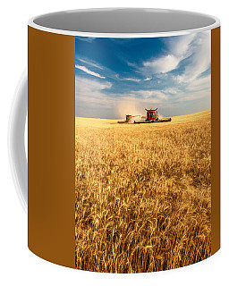Combines Cutting Wheat Coffee Mug