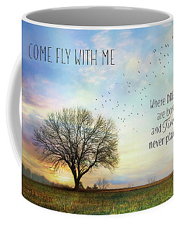 Coffee Mug featuring the photograph Come Fly With Me by Lori Deiter