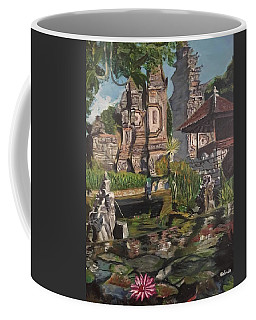 Coffee Mug featuring the painting Come Into My World by Belinda Low