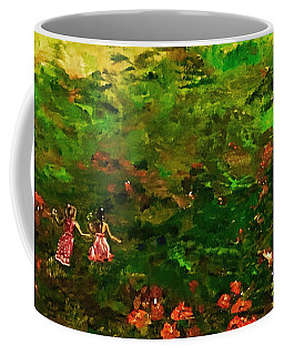 Coffee Mug featuring the painting Come - Let Us Play by Belinda Low