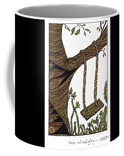 Coffee Mug featuring the drawing Come Out And Play by Barbara McConoughey