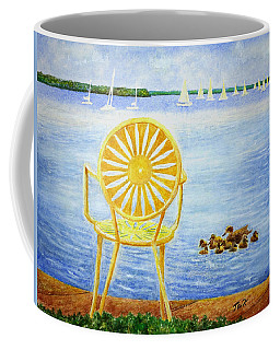 Coffee Mug featuring the painting Come, Sit Here by Thomas Kuchenbecker