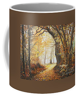 Coffee Mug featuring the painting Come With Me by Sorin Apostolescu