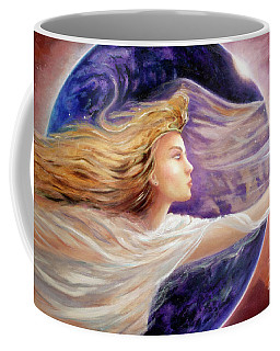 Coffee Mug featuring the painting Comet Dreamer Voyage  by Michael Rock