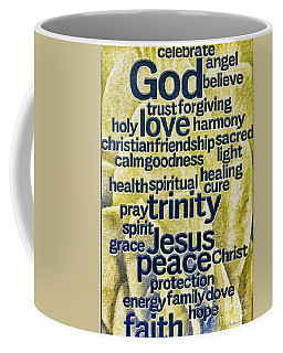 Comfort Words Coffee Mug by Jean OKeeffe Macro Abundance Art