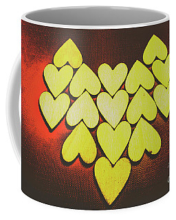 Comic Art Hearts Coffee Mug