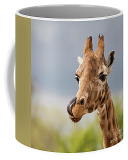 Comical Giraffe With His Tongue Out.  Coffee Mug