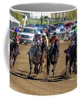 Coming Around The Turn Coffee Mug