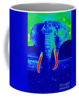 Heat Map Elephant Coming At You In About Ten Seconds Coffee Mug