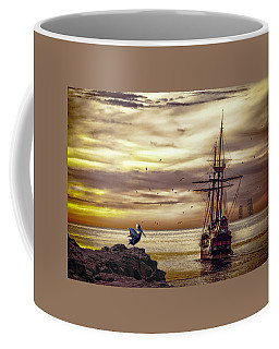Coffee Mug featuring the photograph Coming Home by Diane Schuster