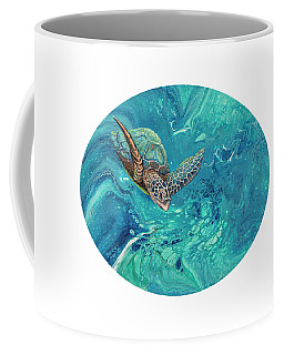 Coffee Mug featuring the painting Coming Out Of The Depths by Darice Machel McGuire