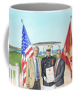 Coffee Mug featuring the painting Commissioning by Betsy Hackett