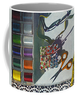 Coffee Mug featuring the painting Common Thread by John Dyess