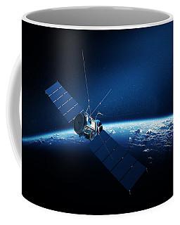 Communications Satellite Orbiting Earth Coffee Mug
