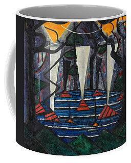 Coffee Mug featuring the painting Composition No. 23 by Jacoba van Heemskerck
