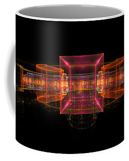 Computer Generated 3d Abstract Fractal Flame Modern Art Coffee Mug by Keith Webber Jr