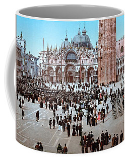 Concert In St. Marks Place, Venice, Italy Ca 1895 Coffee Mug