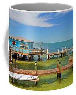 Conch Key Blue Cottage 3 Coffee Mug