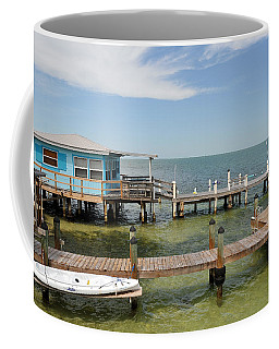 Conch Key Blue Cottage Coffee Mug