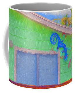 Conch Key Lizard Wall Art Coffee Mug