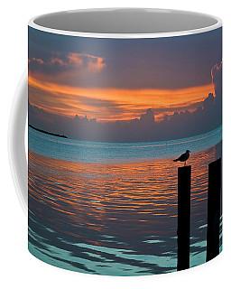 Conch Key Sunset Bird On Piling Coffee Mug