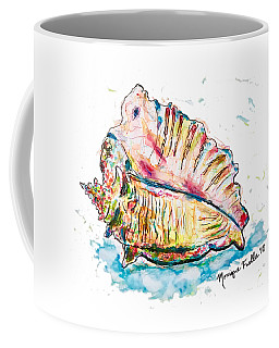 Coffee Mug featuring the painting Conch Shell by Monique Faella