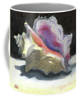 Coffee Mug featuring the painting Conch Shell by Susan Thomas
