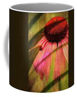 Cone Flower And The Ladybug Coffee Mug