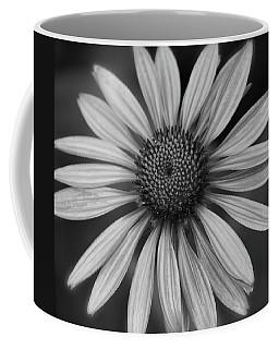 Coneflower In Black And White Coffee Mug