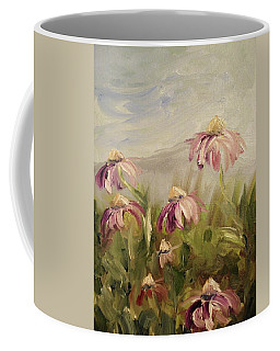 Coffee Mug featuring the painting Coneflowers by Donna Tuten