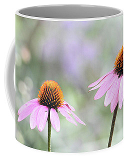 Coffee Mug featuring the photograph Coneflowers On A Summer Day by Trina Ansel
