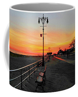 Coney Island Boardwalk Sunset Coffee Mug