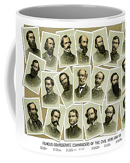 Confederate Commanders Of The Civil War Coffee Mug