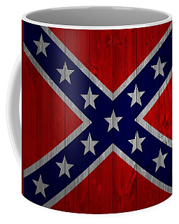 Confederate Flag Barn Door Coffee Mug