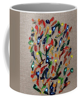 Coffee Mug featuring the painting Confetti by Deborah Boyd