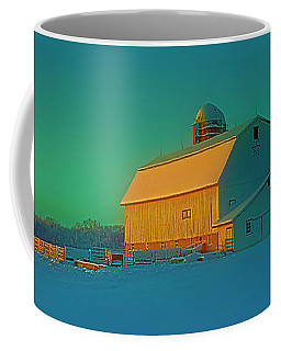 Conley Rd White Barn Coffee Mug