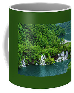 Connected By Waterfalls - Plitvice Lakes National Park, Croatia Coffee Mug