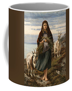Coffee Mug featuring the painting Connemara Girl by Augustus Nicholas Burke
