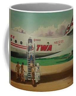 Connie Crew Deplaning At Columbus Coffee Mug by Frank Hunter