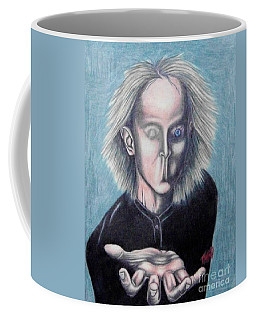 Coffee Mug featuring the drawing Consciousness by Michael  TMAD Finney
