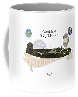 Consolidated, B-24j, Liberator, Rough Night Coffee Mug by Arthur Eggers