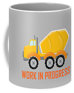 Construction Zone - Concrete Truck Work In Progress Gifts - Grey Background Coffee Mug