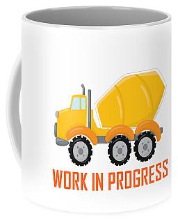 Construction Zone - Concrete Truck Work In Progress Gifts - White Background Coffee Mug