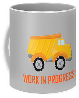 Construction Zone - Dump Truck Work In Progress Gifts - Grey Background Coffee Mug